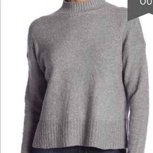 Melrose & Market Crop Mock Neck Boucle Pullover